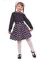 Платье  детское с длинным рукавом   М -964  рост  122 трикотажное