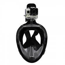 Дайвинг маска Easybreath для подводного плавания (сноркелинга) c креплением для камеры GoPro, фото 3
