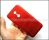 Красный Soft Tpu чехол бампер для Xiaomi Redmi 5 Plus, не скользкий с перламутровым оттенком, фото 5