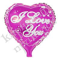 Шарик 35см Сердце с кружевом на палочке, фото 1