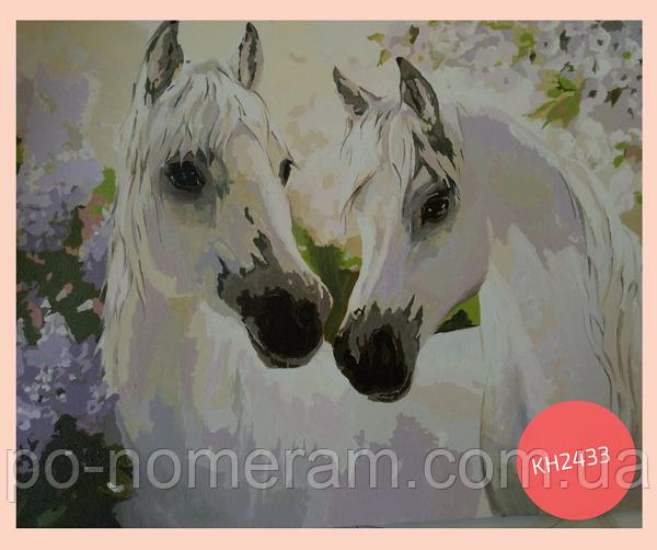 раскраска по номерам лошади