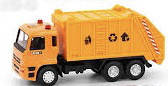 Мусоровоз КАМАЗ оранжевый, (6512ABCD)