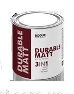 Краска черная матовая для металла 3 в 1 BIODUR 205 0,7л