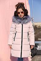 Зимнее детское пальто для девочки Вики рост 116 - 122, Украина, фото 1