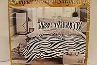 Сатиновое постельное белье ELWAY (размер Евро) 3421