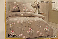 постельное белье ELWAY (размер Евро) 3635
