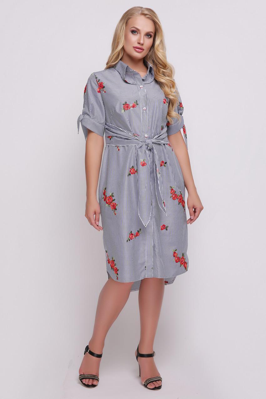 a1242c0a9e5 Платье большого размера Эвита лето вышивка