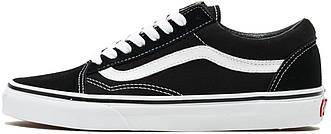 "Женские кеды Vans Old Skool ""Black/White"" (Ванс) черные"