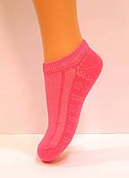 Короткие носки в сетку детские розового цвета