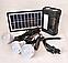 Солнечный набор GD LITE GD-8017 (Лампа-фонарь с аккумулятором), солнечная система, фото 3