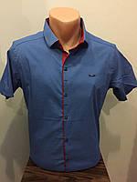 Мужская рубашка с коротким рукавом стрейч M