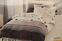 Сатиновое постельное белье ELWAY (размер Евро) 5040