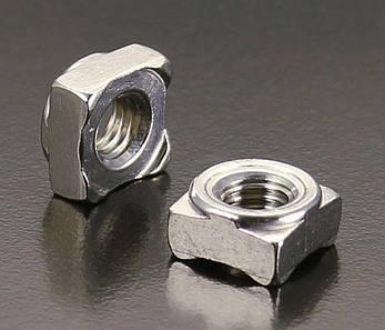 Гайка приварная квадратная  М5 DIN 928 из нержавейки, фото 2