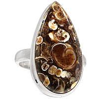 Яшма черепаховая Turtella Jasper, серебро 925, кольцо, 891КЧ