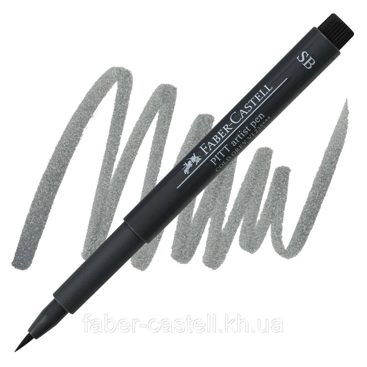 "Ручка-кисточка капиллярная Faber - Castell PITT® ARTIST PEN ""SOFT BRUSH"" № 235 холодный серый VI , 167835"