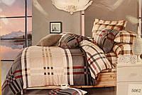 Сатиновое постельное белье ELWAY (размер Евро) 5062