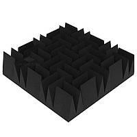 «Клин Дабл» 140 мм. 50*50 см. акустический поролон. Цвет: Черный графит»