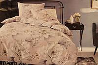 Сатиновое постельное белье ELWAY (размер Евро) 5064