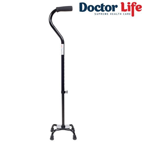Трость с опорой на 4-х ножках с малой базой Dr.Life арт. 10110BL
