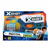 Бластер X-Shot швидкострільний EXCEL Recoil 8 патронів