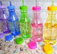 Фитнес бутылка BPA Free (с трубочкой)