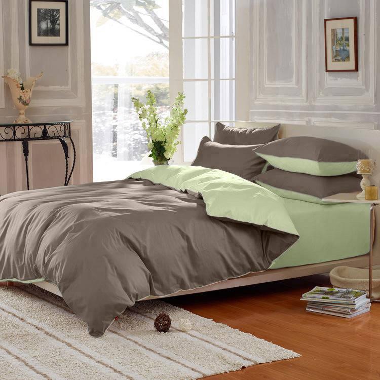 Подростковый комплект постельного белья Сатин Премиум Порох + Олива
