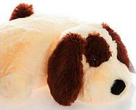 """Декоративна подушка-іграшка """"Собачка""""(персиковий) 55 см, фото 1"""