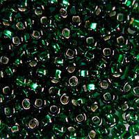 Чешский бисер для рукоделия Preciosa (Прециоза) оригинал 50г 33129-57060-10 Зеленый