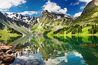 Фотообои ArtWalls Фотообои Горное озеро NAT-060 Глянец