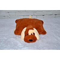 """Декоративная подушка-игрушка """"Собачка""""(коричневый) 45 см, фото 1"""