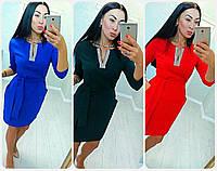 """Женское платье с поясом (  жіноче плаття ) """"Анжелика"""" ЧЕТЫРЕ ЦВЕТА, фото 1"""