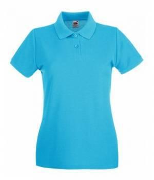 Женская футболка Поло хлопок 030-ЗУ-k395  fruit of the loom
