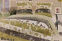 Сатиновое постельное белье ELWAY (размер Семья) 958