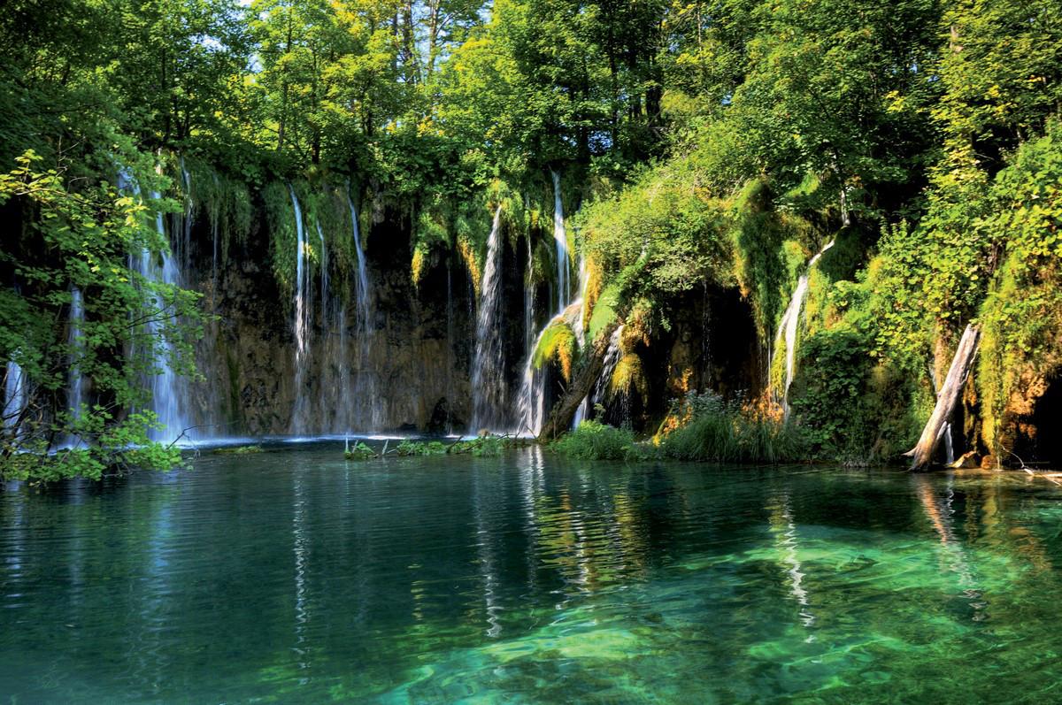 Фотообои ArtWalls Фотообои Водопад в зелени NAT-056 Глянец