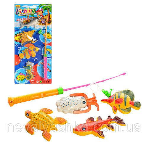 Рыбалка магнитная детская, удочка, рыбки, M 1832, 008529