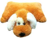 "Декоративна подушка-іграшка ""Собачка""(медовий) 55 см, фото 1"