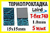 Термопрокладка Laird 5,0 W/mK T-FLEX 740 оригинал 15х15х1.0 серая термо прокладка термоинтерфейс