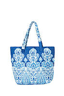 Красивая итальянская пляжная сумка David DB8-041 One Size Синий