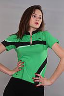 Женская футболка (реплика) Adidas зеленого цвета