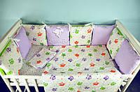 Детские бортики с постельным бельем