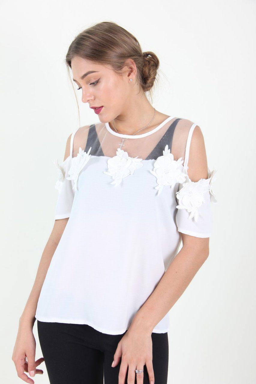 ed34bec5c6b Стильная белая женская блуза  продажа