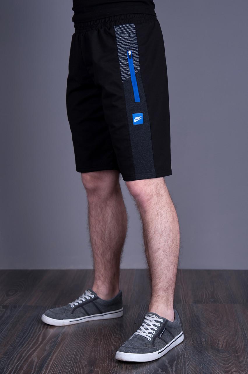 Чоловічі трикотажні шорти Nike, темно-синього кольору.
