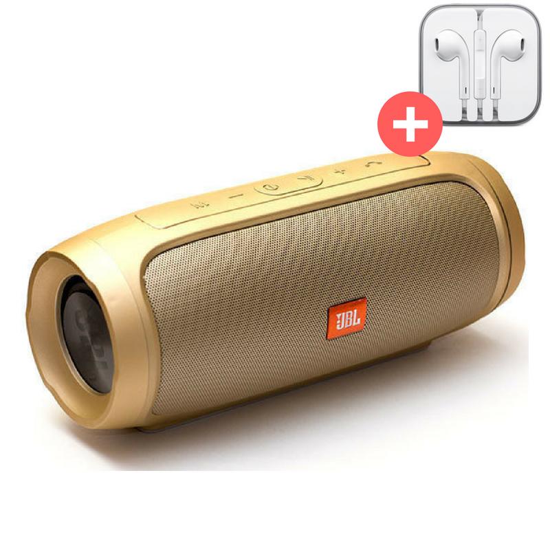 Колонка Bluetooth JBL CHARGE 4 MP3 FM USB Quality Replica. Золото. Gold