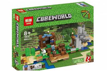 "Конструктор Lepin 18030 ""Верстак 2.0"" Minecraft 664 деталі. ( Аналог Lego 21135 )"