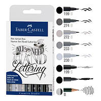 Набор капиллярных ручек Faber-Castell Pitt Artist Pens Starter Set Hand Lettering 267118