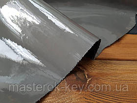 Кожа натуральная Лак  т.1,2-1,4мм цвет серый