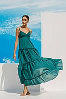 Зеленый пляжный сарафан из хлопка Ora 18018/2 42(S) Зеленый