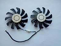 Вентилятор №41 кулер для видеокарты MSI GTX 1050ti 1060 HA8010H12F-Z T128010SU HA9010H12F-Z PLD08010S12HH
