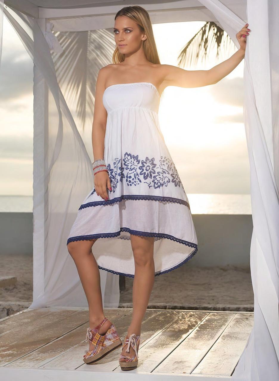 05f6df72d6c8 Белое платье туника для пляжа Iconique KA 4164 44(M) Белый