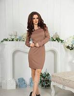 Платье стильное женское  90 см длинный рукав 42 44 46 48 50 Р, фото 1